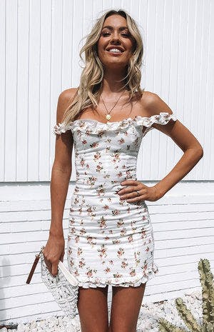 Live To Tell Dress White Floral