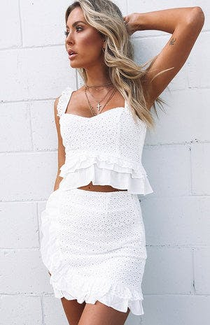 Maisy Crop White