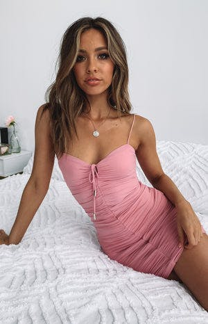 https://files.beginningboutique.com.au/Break+Even+Ruched+Party+Dress+Pink.mp4