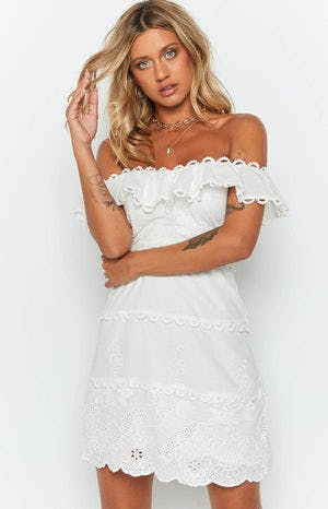 Caudalie Lace Dress White