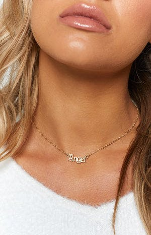 Eclat Angel Necklace Gold