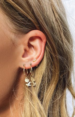 Eclat Baby Come Back Rose Earrings Gold