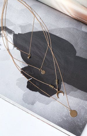Eclat Cartia Layered Necklace Gold