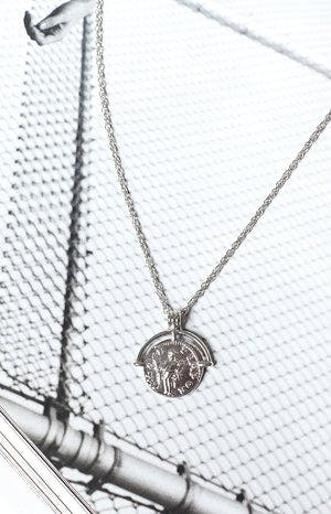 Eclat Quincy Pendant Necklace Silver