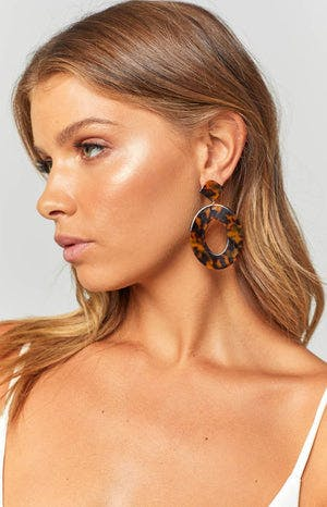 Eclat Sara Earrings Tortoiseshell