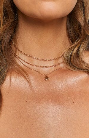 Eclat Golden Hour Layered Necklace Gold