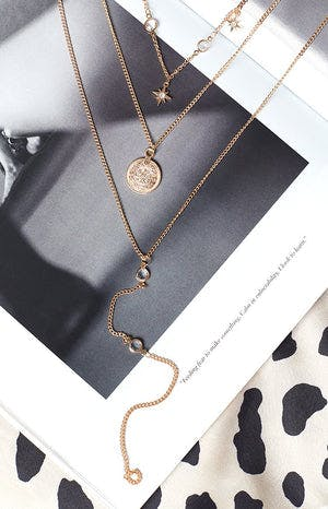Eclat Teo Necklace Gold