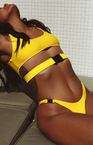 9.0 Swim Bahama Bottoms Fluro Yellow