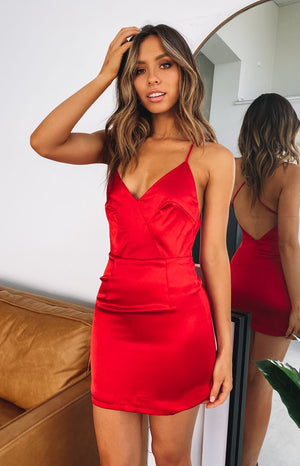 Midnight In Paris Party Dress Red