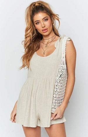 Mirage Playsuit Beige