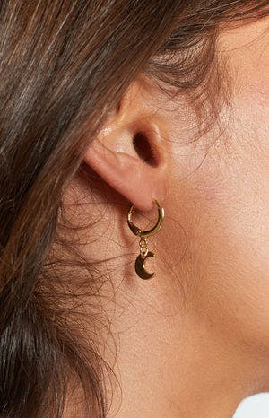 Eclat Moon Glow Earrings Gold