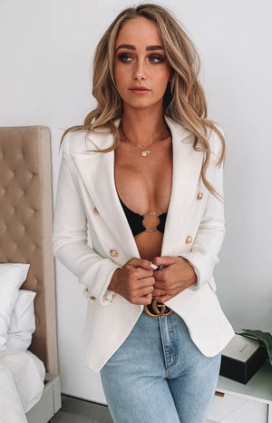 Lioness The Palermo Blazer White