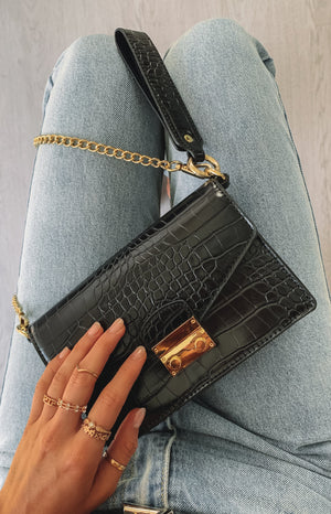 Peta & Jain Talor Bag Black Croc