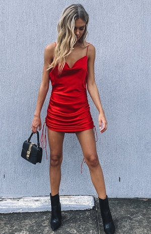 Lioness String Along Mini Dress Red