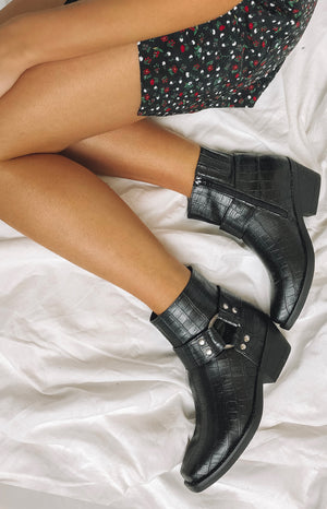 Therapy Velez Boots Black Croc