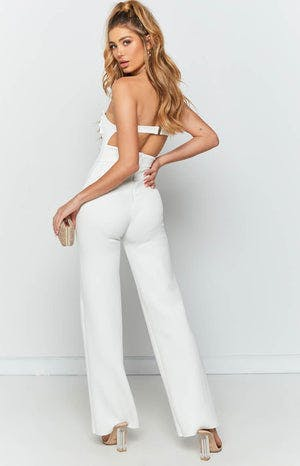 Times Square Jumpsuit White