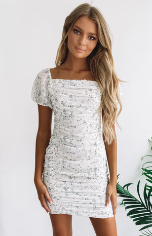 Walking On Air Mini Dress White