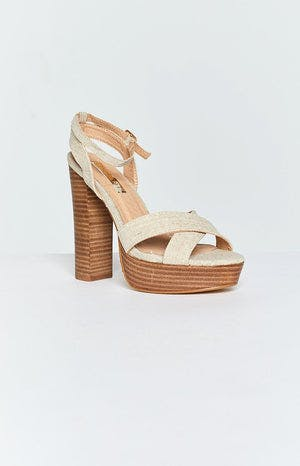 Billini Eva Heels Natural Linen