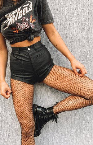 Eclat Dasha Fishnet Stockings Black