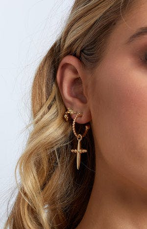 Eclat Count Your Blessings Earrings Gold
