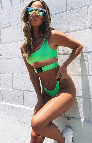 9.0 Swim Andros Top Lime Green