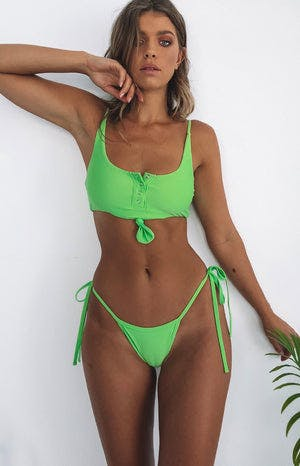 9.0 Swim Ibiza Bikini Bottoms Lime Green