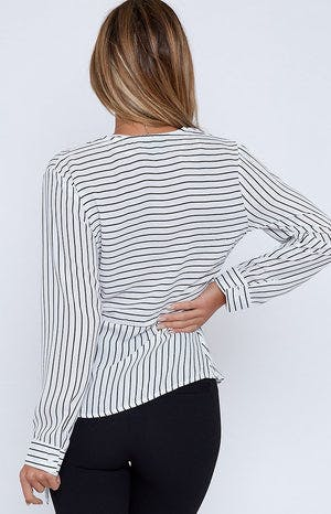 Finesse Long Sleeve Top Stripe